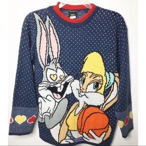 Vintage Space Jam Bugs Bunny Lola Bunny Sweater